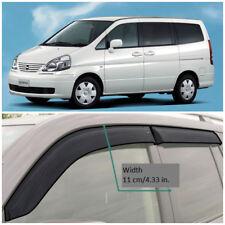 NE17299 Window Visors Vent Wide Deflectors For Nissan Serena C24 5d 1999-2005