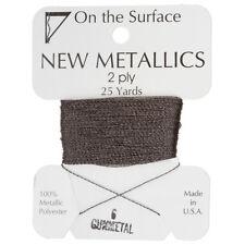 Beadsmith Metallic Polyester Thread 2 ply Gunmetal 25 yards/22 Metres (G54/6)