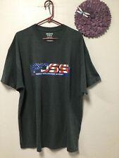 Mens T-Shirt style top size 2XL dark gray embellished Gildan dry blend 107