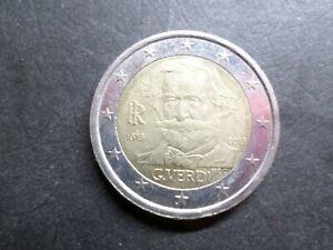 ITALIE - PIECE de MONNAIE de 2 euro 2013, GIUSEPPE VERDI, MUSICIEN, VF COIN