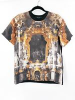 KSUBI Men's Baroque Art Church Graphic Black Tee T-Shirt Silk Size Small