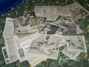 1970'S CLEVELAND INDIANS NEWSPAPER ARTICLES & PHOTOS.  60+  PLAIN DEALER & PRESS