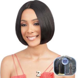 Bobbi Boss 100% Human Hair Lace Front Wig - MHLF802 EMA SHORT Natural Hairline