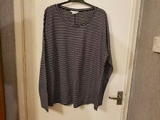 Black striped supersoft relaxed top by boden size 18 wo108