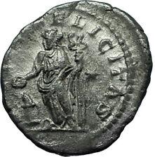 JULIA MAESA 218AD Rome Authentic Ancient Silver Roman Coin FELICITAS i66401