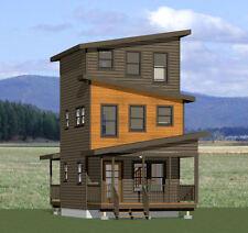 16x16 Tiny House -- 671 sqft -- PDF Floor Plan -- Model 22A
