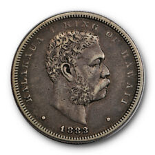 1883 50C Kingdom of Hawaii Half Dollar Extra Fine to About Uncirculated #RP13
