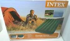 New Intex Prestige Downy Portable Inflatable Twin Air Bed Home Mattress Pump