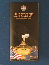 RYDER Cup 2010-BIGLIETTO titolari GUIDE-held at CELTIC MANOR