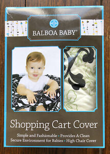 NIB Balboa Baby Shopping Cart and High Chair Cover in Lola (Box Has Been Opened)