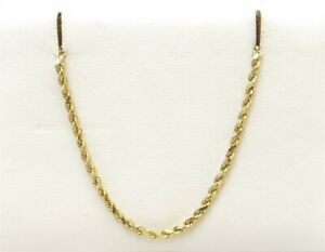 """14K Yellow Gold ~2MM Wide Rope Link Chain 20"""""""