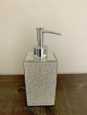 Bella Lux Pump Soap Dispenser FULL Rhinestone Mirrored Sparkle Bathroom  NEW