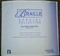 The Million Dollar Putt by Dan Gutman - in Braille for the Blind Children