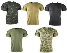 TACTICAL MILITARY STYLE SHORT SLEEVE T SHIRT WITH SLEEVE POCKETS