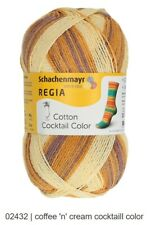 3.5oz 459yd #2417 Papaya Regia Sock yarn Tutti-Frutti Cotton