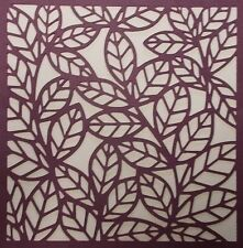 Scrapbooking - STENCILS TEMPLATES MASKS SHEET - Leaf Background Stencil