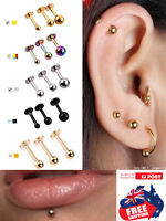 1pc 16g Surgical Steel Tragus Labret Studs With 3mm Ball  Ear Lip Body Piercing