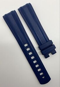 Authentic New Omega Seamaster 20mm x 18mm Blue Rubber Watch Strap CVZ010127 OEM
