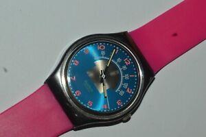 Vintage Swatch Watch GX119 BLUE TUNE 1990 Swiss Quartz Unisex Originals 34 mm