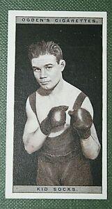 KID SOCKS   British Fly-weight Boxer  Original 1928 Vintage Photo Card