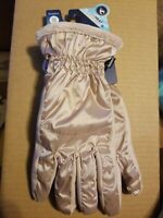 Women's Isotoner Sleek Heat smartDRI smarTOUCH Dusted Blush Gloves - new- 1SZ