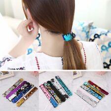 5PCS Slap Bracelets Two-color Reversible Charm Sequins Flip Wristbands