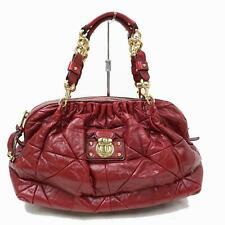Authentic MARC JACOBS Hand Bag  Reds Leather 1200376