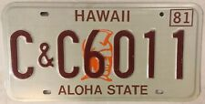 C&C COUNTY & CITY GOVERNMENT license plate Sheriff Municipal Police Officer Govt