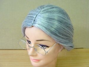 Grandma Granny Old Lady Women Grey Grand Mother Wig Costume Party Wig
