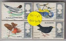 1966 Great Britain - 100 x Set of Four Bird Stamps - 400 Stamps