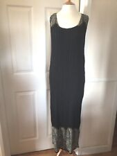 EAST STUNNING BLACK CRINKLE OCCASION/HOLIDAY DRESS SZ 12/14 NWT