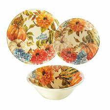 Harvest 12-Piece Melamine Dinnerware Set - BPA-free Dishwasher Safe Nice Gift