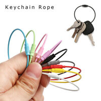 10PCS Stainless Steel Wire Keychain Cable Key Ring Chains For Outdoor Hiking
