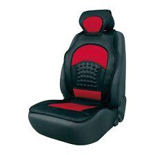Komfort Automax Sitzbezug Sitzauflage rot schwarz mit Rückenstütze Auflage