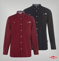 Mens Lee Cooper Curved Button Long Sleeve Shirt Top Sizes from S to XXL