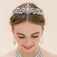 Women Girls Elegant Wedding Bride Crown Headwear Rhinestone Tiaras Cute GiftEO