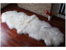 Merino Double White Sheepskin Rug Real Soft Wool X Large