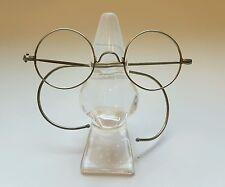 Antique Vintage Silver Tone Round Frame Sunglasses Eyeglasses Retrò Very Rare 1