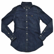 Polo Ralph Lauren Shirt Women Button Down Oxford New Custom Fit Long Sleeve