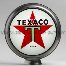 "Texaco Star 13.5"" Gas Pump Globe w/ Steel Body (G192)"