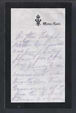 Queen Victoria Handwritten Note Windsor 1888 Removal of Battenberg Telephone