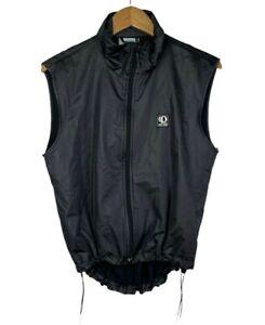 Pearl Izumi Men's Mesh Back Full Zip Front Cycling Vest Black Reflective Sz M