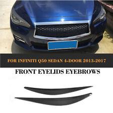 Carbon Fiber Headlight Cover Eyelids Eyebrows Fit for Infiniti Q50 Sedan 13-17