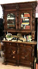 Large+Heavily+Hand+Carved+Antique+Breakfront+Sideboard+8%27x56%22x20%22+L.A%2CCalif.+p%2Fu