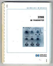 HP - 3791B  BB TRANSMITTER SERVICE MANUAL   ( ORIGINAL  BOOK )