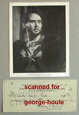 ANTHONY QUAYLE - CHECK - SIGNED - 1956 - HAMLET - LAWRENCE OF ARABIA - AA NOM