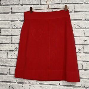 Sonia Rykiel Red Merino Wool Skirt - Heart Pocket
