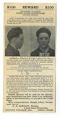 Wanted Notice Mailer - Jack Tannebaum - U.S. Penitentiary, Atlanta, Georgia 1924