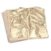 100 Blatt Goldfolie Dekoration Aufkleber Folie 14 x 14 cm Kraft zum Vergold Q8M1