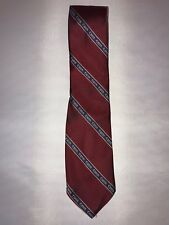Canon Camera Brand Logo Mens Red Blue USA Made Striped Vintage Classic Neck Tie